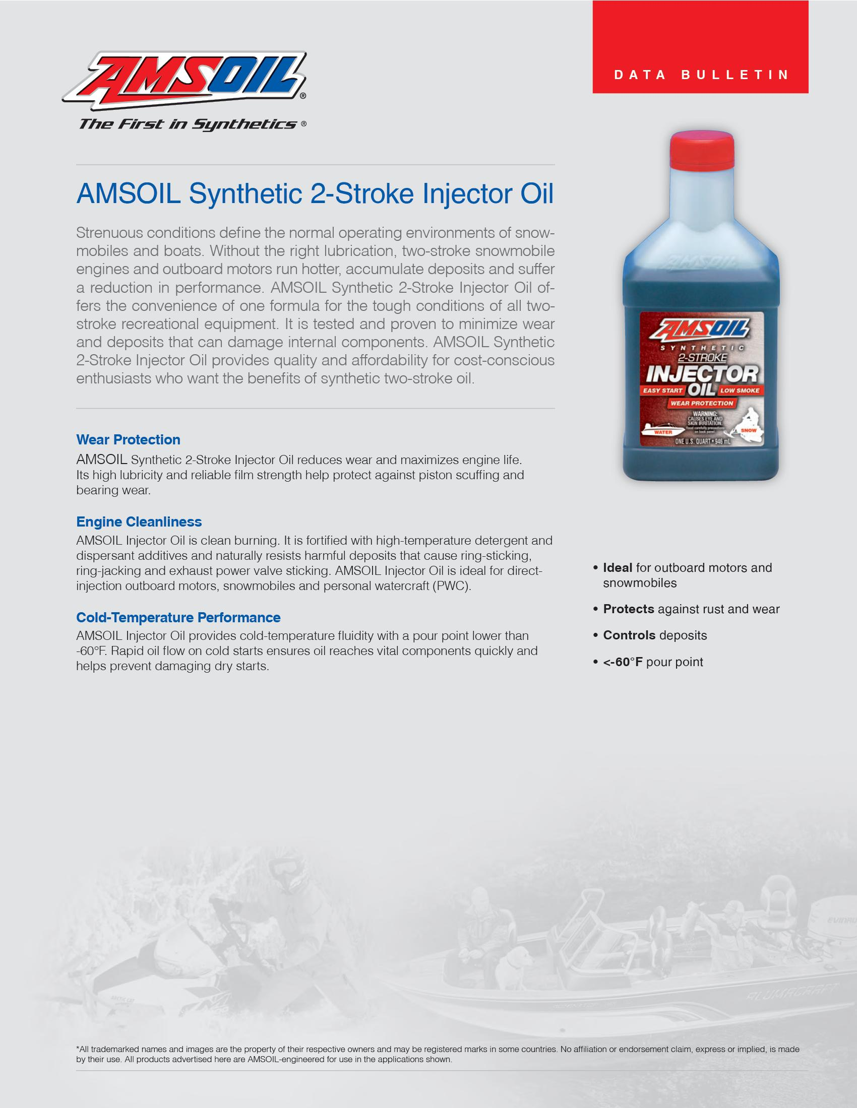 Synthetic 2-Cycle Injector Oil