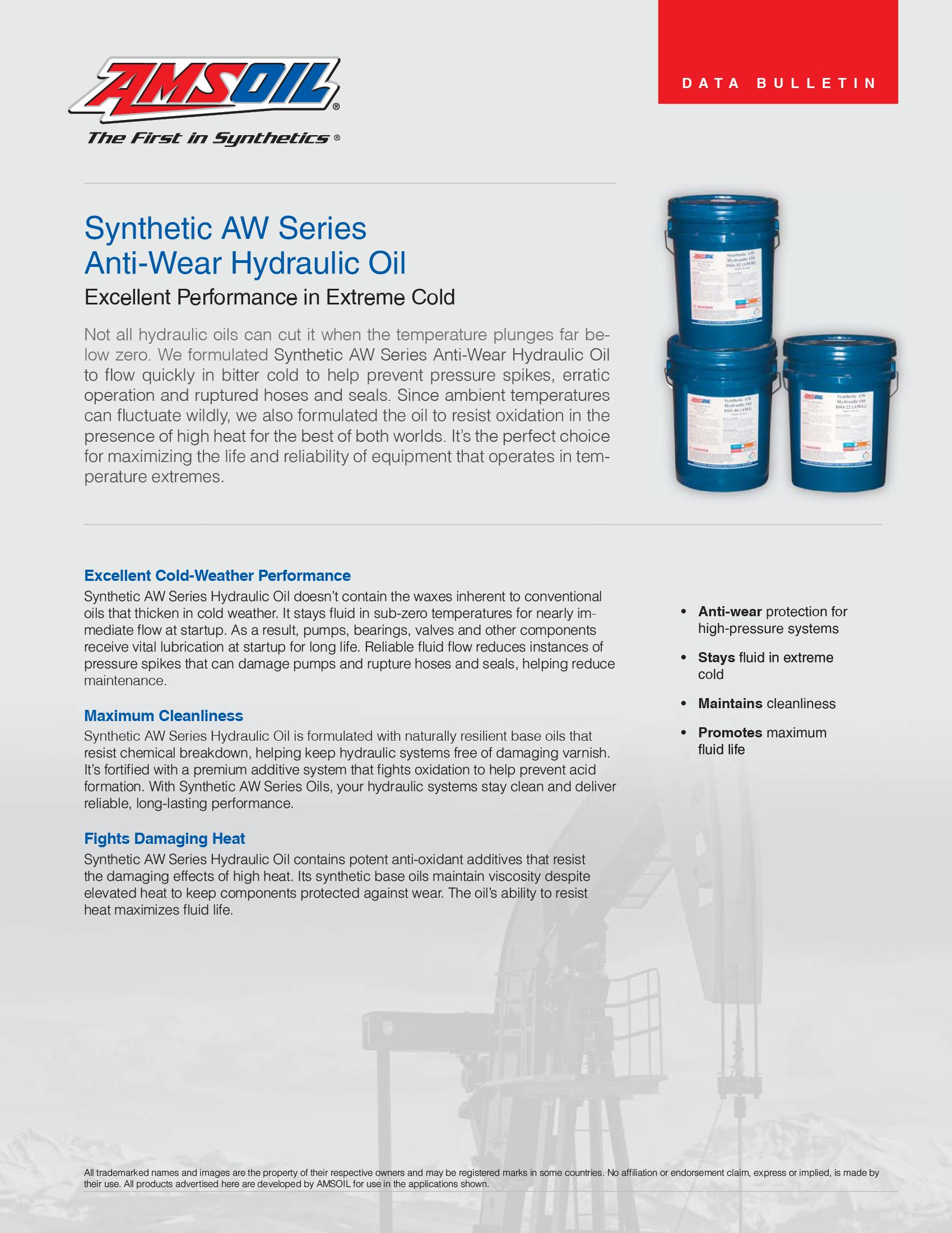 Synthetic Anti-Wear Hydraulic Oil - ISO 22